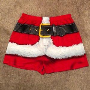NWOT Briefly Stated Men's Santa boxer short large